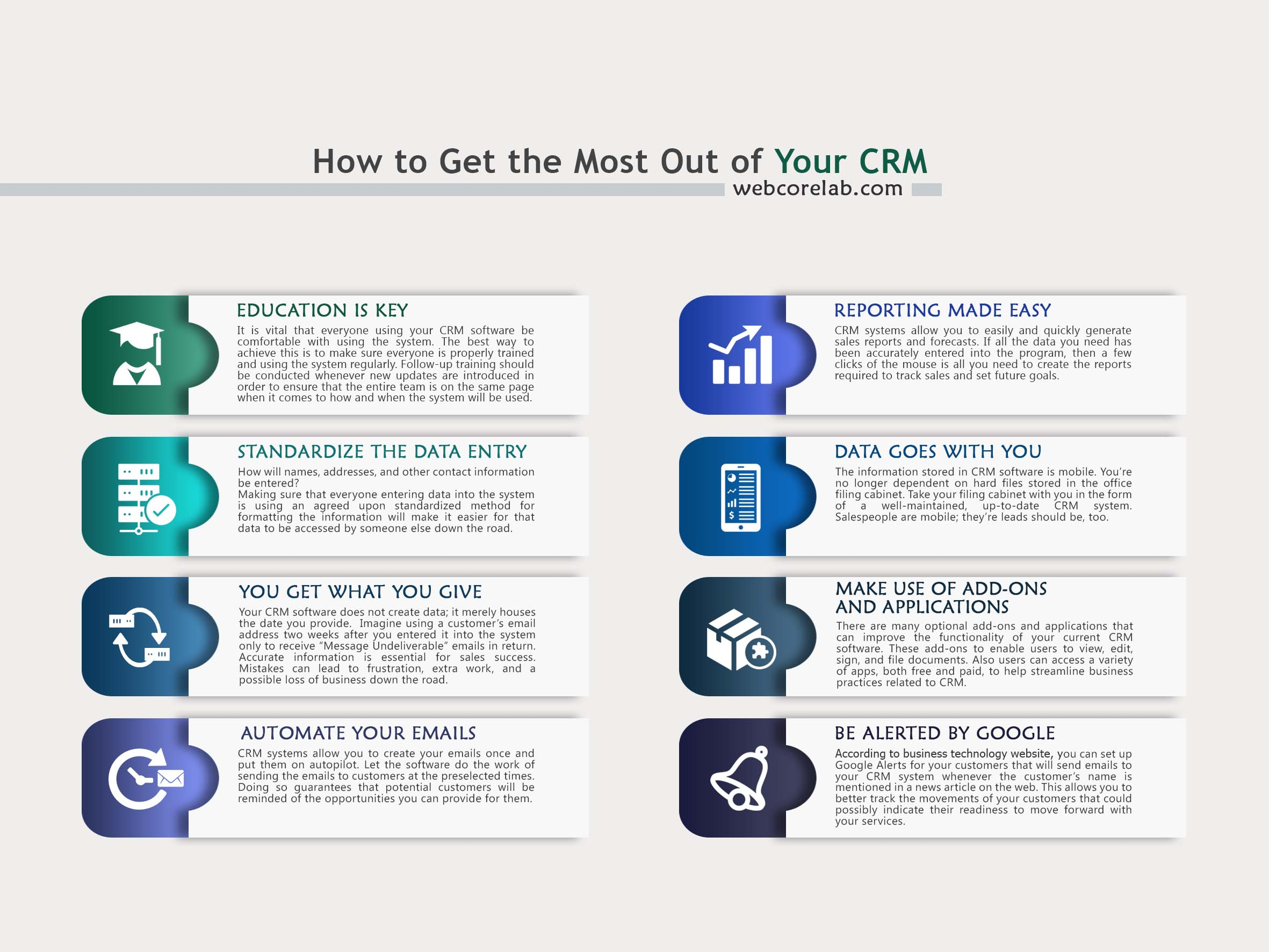 How to get the most out of your CRM systems